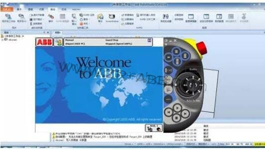 ABB机器人虚拟示教器系统应用与实践